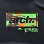 アーチ Tシャツ スクエアカモ ブラック3