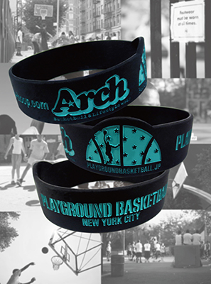 シリコンバンド Arch  with PLAYGROUND BASKETBALL NEWYORK CITY