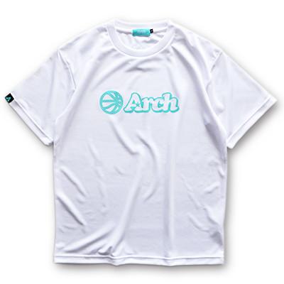 アーチ ドライTシャツ ボールロゴ ホワイト 1