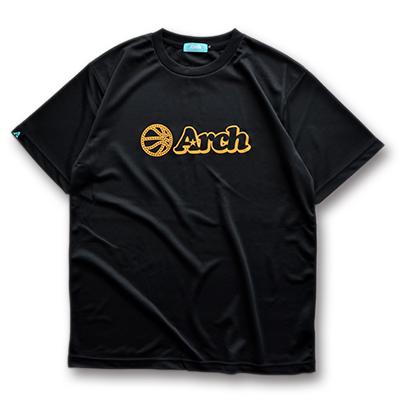 アーチ ドライTシャツ ボールロゴ ブラック 1