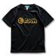 アーチ ドライTシャツ キッズ ボールロゴ ブラック 1
