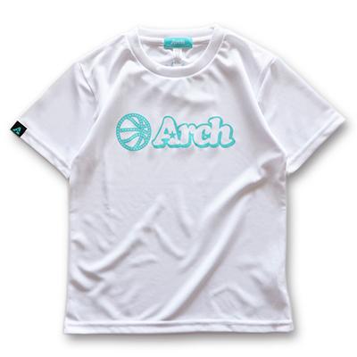 アーチ ドライTシャツ キッズ ボールロゴ ホワイト 1