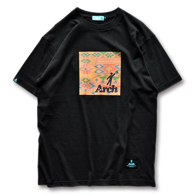 アーチ Tシャツ イカット ブラック 1