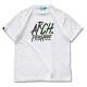brushlettered T-shirts Arch white 1