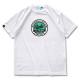 round cursive T-shirts Arch white 1