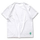 round cursive T-shirts Arch white 2