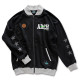 stitch logo sweatjacket Arch black 1