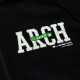 stitch logo sweatjacket Arch black 2