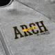 stitch logo sweatjacket Arch gray 2
