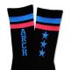 Triplestar mid socks Arch black blue 3