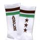 Triplestar mid socks Arch white brown 3