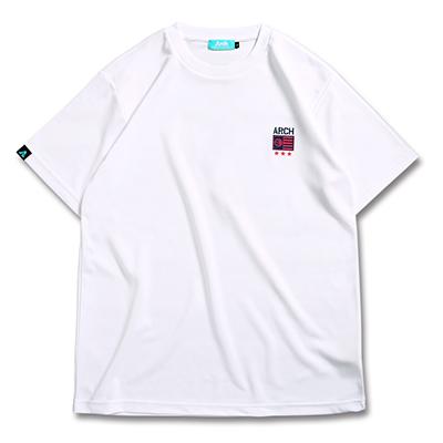 アーチ Tシャツ ドライ グリッドカモ ホワイト 1