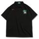 カレジエイトロゴ アーチ ポロシャツ ブラック 1